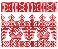 Ciervos rusos del bordado stock de ilustración