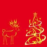 Ciervos y un árbol. Libre Illustration