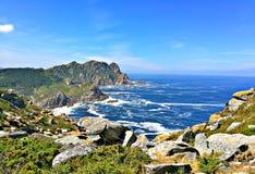 Cies海岛峭壁 免版税库存照片