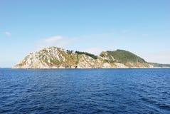 Cies海岛(伊利亚斯cies),西班牙看法  免版税图库摄影