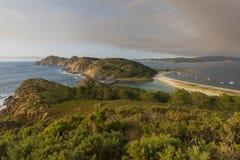 Cies-Inseln Pontevedra, Spanien Stockbild