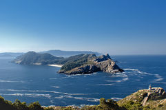 Cies islands. The islands Cies on the bright morning Stock Image
