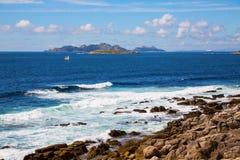 Cies islands Stock Photography