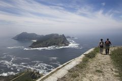 Cies Islands in Galicia, Spain Stock Photo