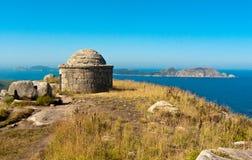 Cies Islands from O Facho. In Cangas Rias Baixas Galicia Stock Photography