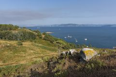 Cies Islands Pontevedra, Spain. Coast of Cies Islands Pontevedra, Spain stock photography