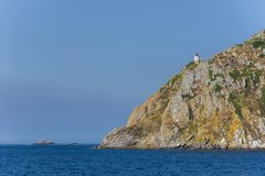 Cies Islands Pontevedra, Spain. Cies Islands, small islands located in Pontevedra, Spain royalty free stock photos