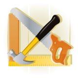 Ciesielek narzędzia ilustracja wektor