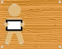 ciesielki zbożowy ilustracyjny ochraniacza komputeru osobisty pastylki drewno Obraz Stock