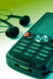 ciesz się przenośnego odtwarzacz muzyczny telefon Fotografia Royalty Free