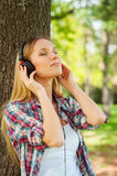 Cieszyć się muzykę i świeże powietrze. Obrazy Stock