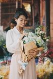 Cieszyć się piękno kwiaty zdjęcie royalty free