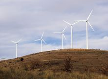 cieszyć się wiatr. fotografia stock