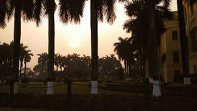 Cieszyć się zmierzch przy Sławnym Royal Palace Bengalia obraz royalty free