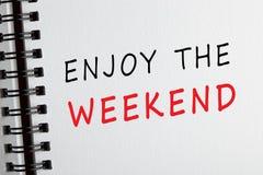 Cieszy się weekend zdjęcie stock