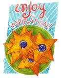 Cieszy się inspirację! Obraz Royalty Free