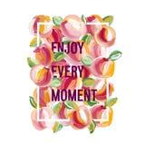 Cieszy się Każdy moment - motywacja plakat ilustracja wektor