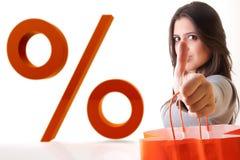cieszy się kobietę sprzedaż mówi zakupy kobiety Obraz Stock