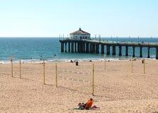 Cieszy się lato plażę Fotografia Stock