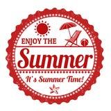 Cieszy się lato znaczek Obrazy Stock