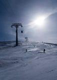 Cieszy się narciarstwo Zdjęcia Royalty Free