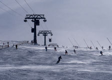 Cieszy się narciarstwo Obrazy Stock