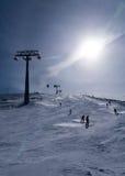 Cieszy się narciarstwo Obrazy Royalty Free