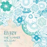 Cieszy się wakacje letni z kwiatami Zdjęcie Royalty Free