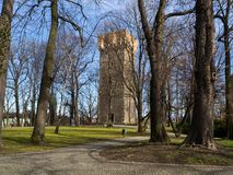 Cieszyn the piast tower. Piast tower in cieszyn – a defence tower of the former castle of the dukes of cieszyn on castle hill in cieszyn, poland one of stock image