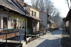 """Cieszyn, Polônia, o 6 de fevereiro de 2016 A rua de Przykopa, complexo residencial chamou o  de Venice†do """"Cieszyn imagem de stock royalty free"""