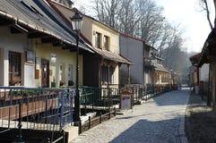 "Cieszyn, Polen, am 6. Februar 2016 Przykopa-Straße, Wohnkomplex nannte ""Cieszyn Veniceâ€- lizenzfreies stockbild"
