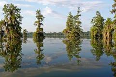 Cieux au-dessus du bayou photo libre de droits