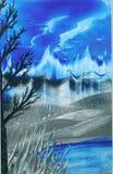 Cieux bleus Images stock