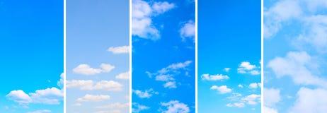 Cieux bleus avec les nuages blancs image libre de droits