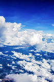 Cieux bleus de vue aérienne Photographie stock
