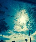 Cieux bleus lumineux sur St Thomas United States Virgin Islands Photographie stock