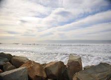 Cieux d'océan Photographie stock libre de droits