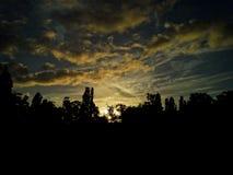 Cieux de coucher du soleil Image libre de droits