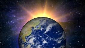 Cieux et terre (boucle de HD) illustration stock