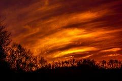 Cieux lumineux de soirée Photographie stock libre de droits