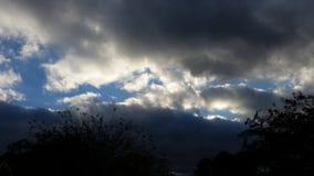 Cieux nuageux Image libre de droits