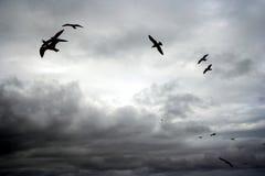 Cieux nuageux dans Whitby Photographie stock libre de droits