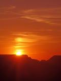 Cieux oranges de coucher du soleil Photo stock