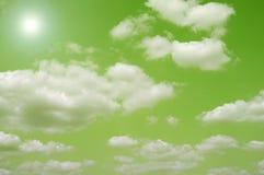 Cieux verts Images libres de droits