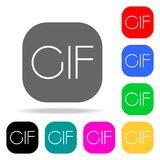CIF sign icon. Elements in multi colored icons for mobile concept and web apps. Icons for website design and development, app deve. Lopment on white background Royalty Free Stock Photography