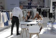 CIFF的顾客在哥本哈根 免版税库存照片