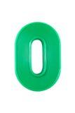 Cifra di plastica di numero Immagine Stock