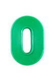 Cifra plástica do número Imagem de Stock