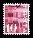 Cifre \ «10 \» su fondo modellato, serie numerale, circa 1970 fotografia stock libera da diritti