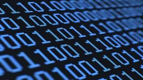 Cifre binarie casuali, attraverso il macro LCD stock footage